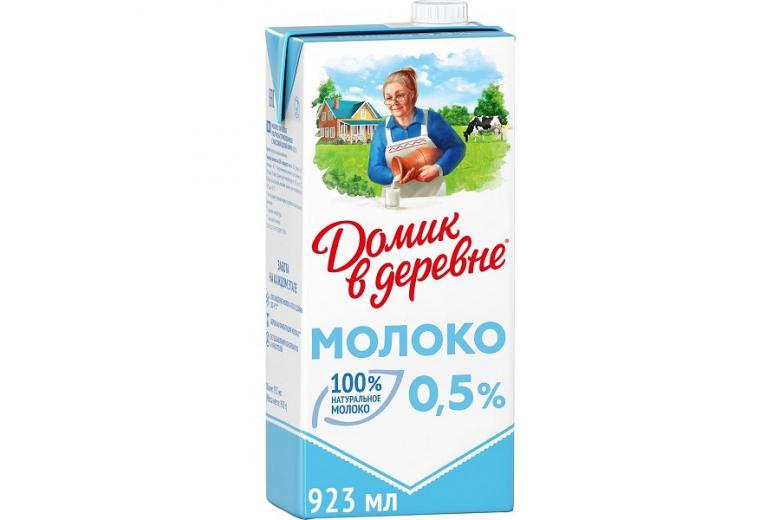 """МОЛОКО """"ДОМИК В ДЕРЕВНЕ"""" 0.5% 950Г"""