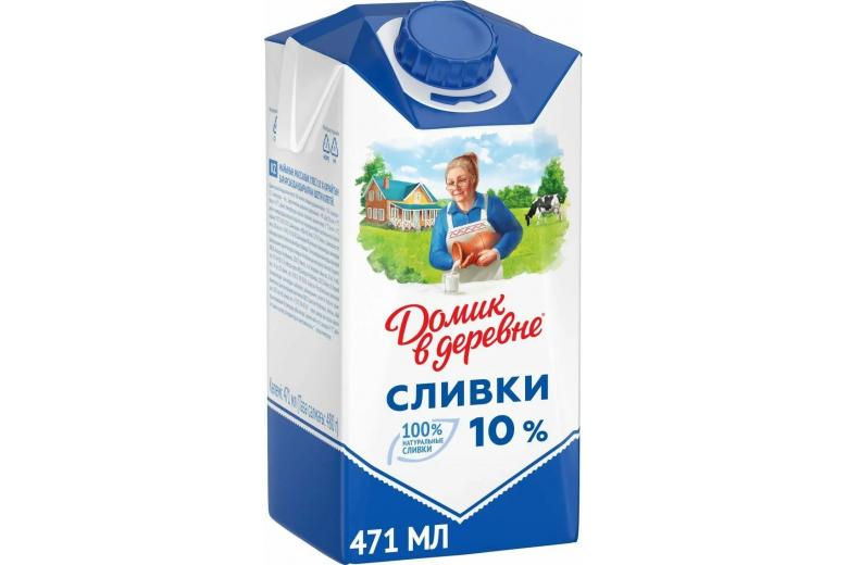 """СЛИВКИ """"ДОМИК В ДЕРЕВНЕ"""" 10% 480Г"""