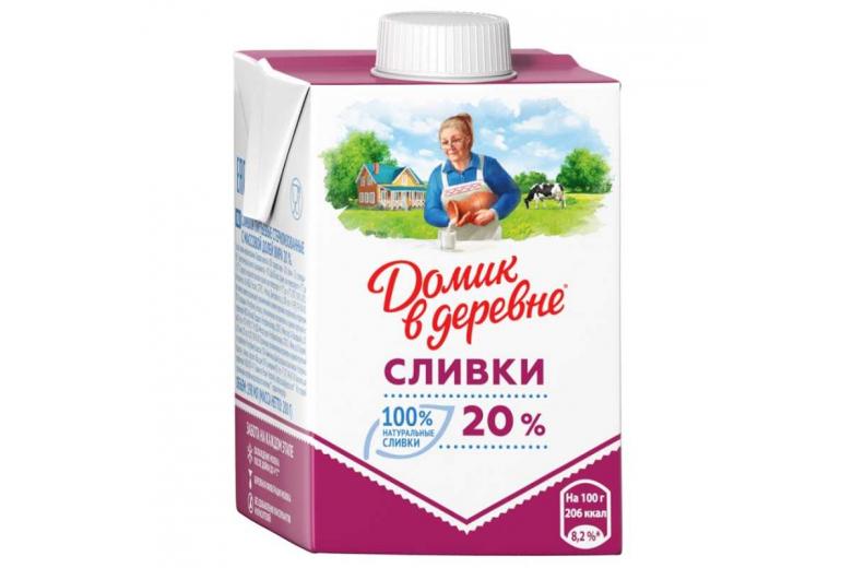 """СЛИВКИ """"ДОМИК В ДЕРЕВНЕ"""" 20% 200Г"""