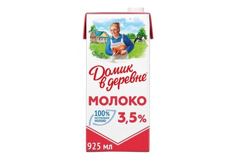 """МОЛОКО """"ДОМИК В ДЕРЕВНЕ"""" 3.5% 950Г"""
