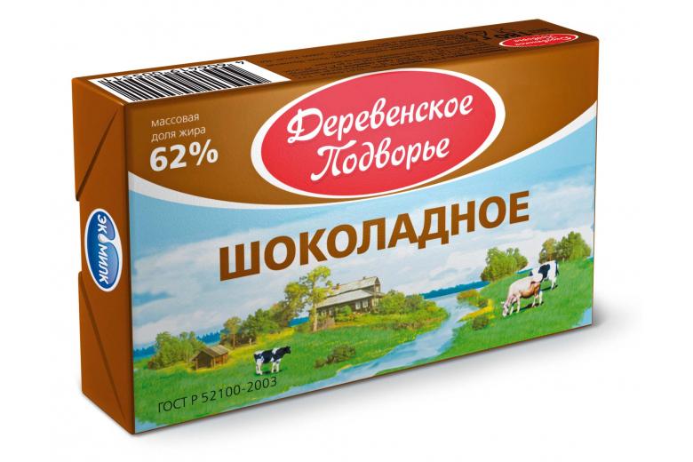 """Спред шоколадный """"Деревенское подворье"""" 62% 180г"""