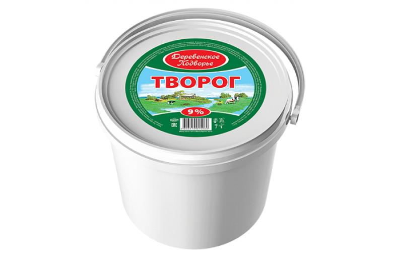 """Творог """"Деревенское подворье"""" 9% ведро 5кг"""