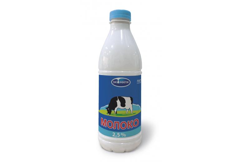 """Молоко """"Экомилк"""" 2.5% 930 мл ПЭТ"""