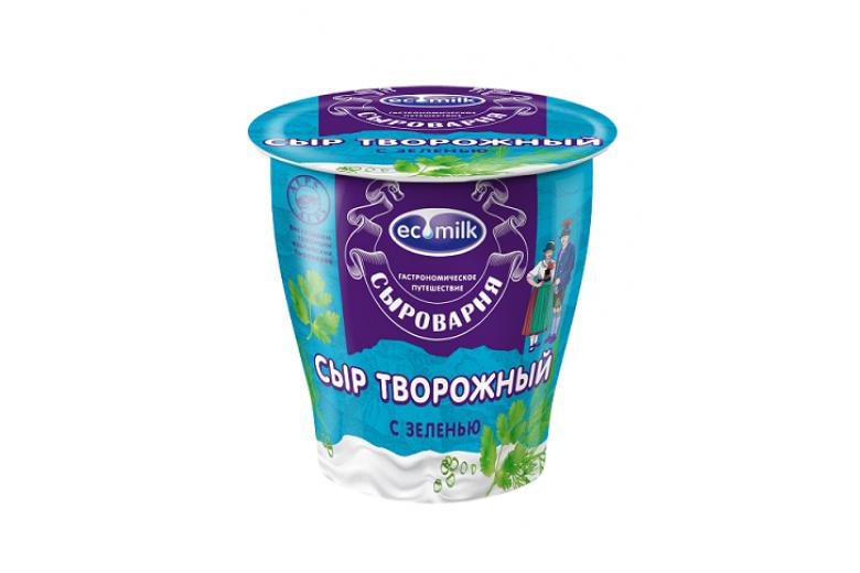"""Сыр творожный с зеленью """"Экомилк"""" 150г"""