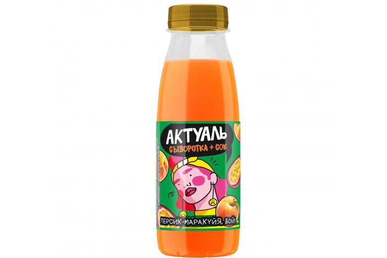 """Напиток на сыворотке """"Актуаль"""" персик-маракуйя 310г"""