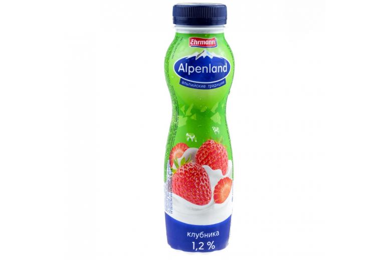 Йогурт Alpenland 290г клубника
