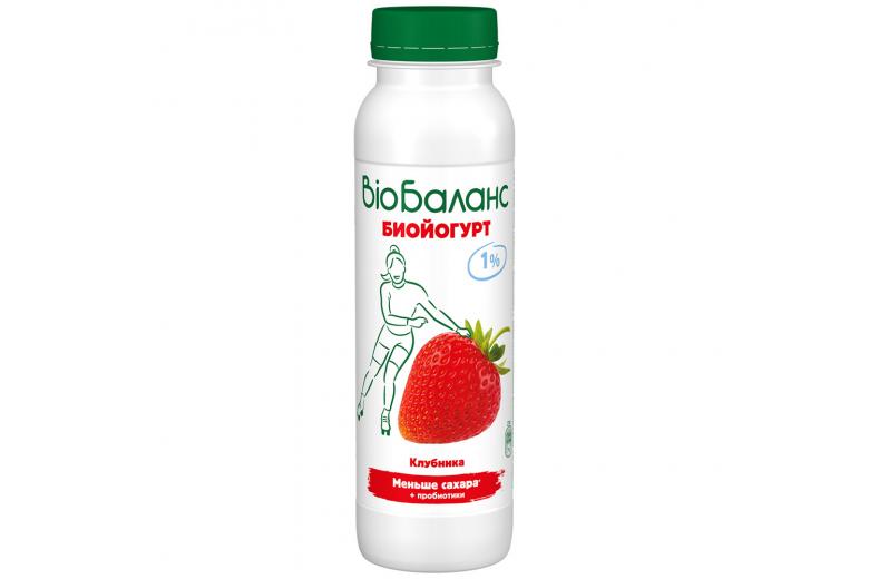 "Йогурт ""Bio-баланс"" клубника 270г"