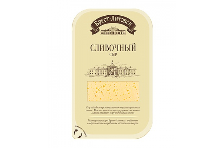 """Сыр """"Брест-Литовск"""" сливочный нарезка 150г"""