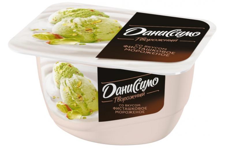 "Творожное ""Даниссимо"" фисташковое мороженое 130г"