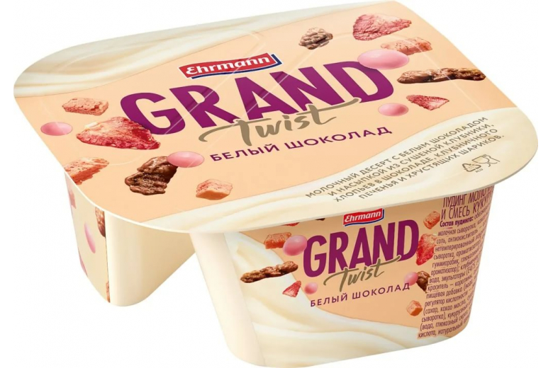 Десерт Grand Twist белый шоколад 138г