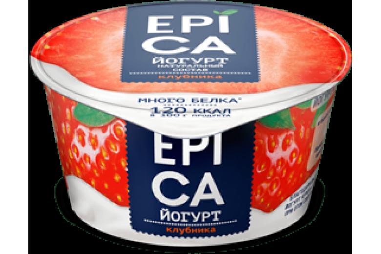 Йогурт Epica клубника 130г