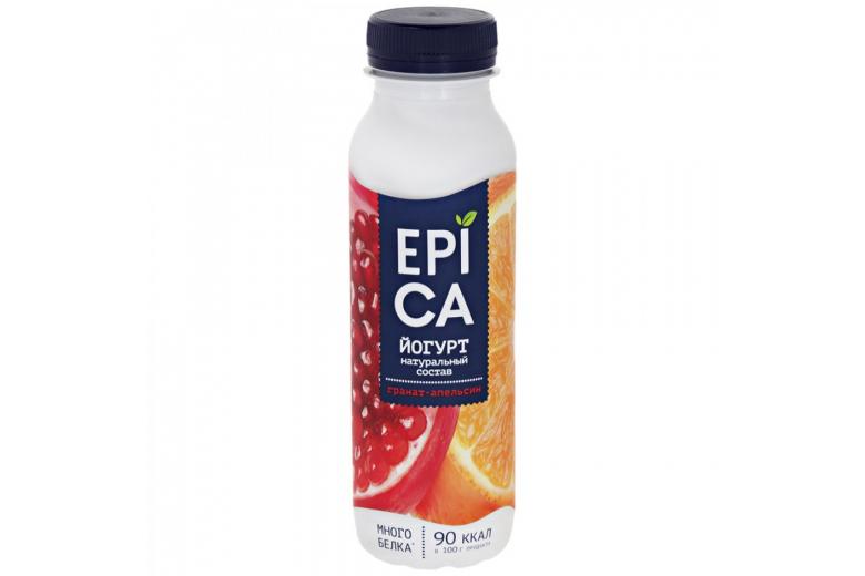 Йогурт Epica гранат-апельсин 290г
