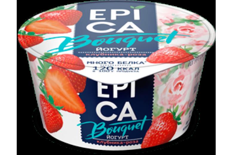 Йогурт Epica Bouquet клубника-роза 130г