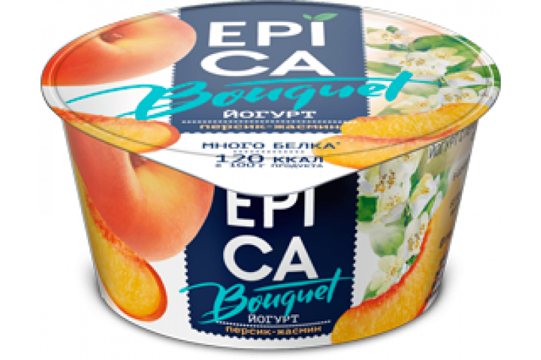Йогурт Epica Bouquet персик-жасмин 130г