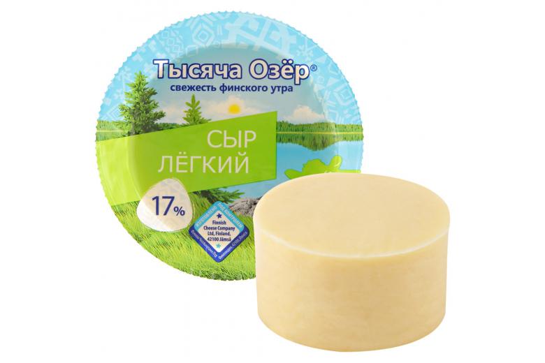 """Сыр """"Тысяча озер"""" легкий 360г цилиндр"""