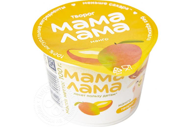 "Творог ""Мама лама"" 100 г манго"