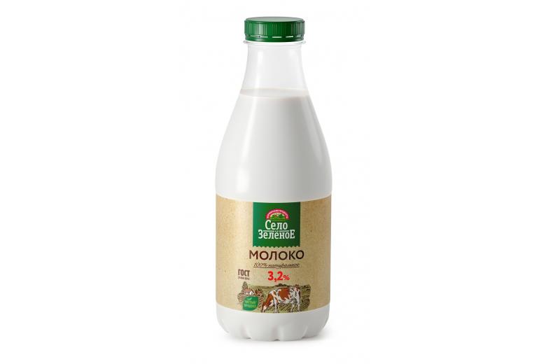 "Молоко ""Село зеленое"" 3.2% 930г"