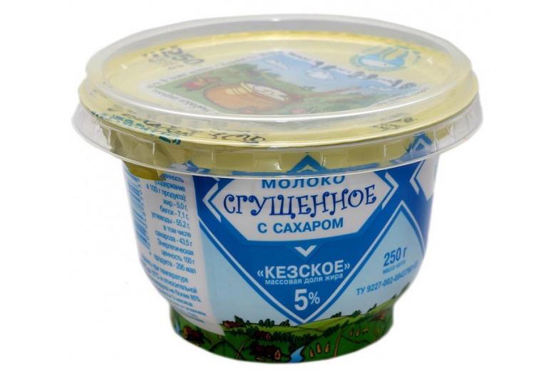 """Сгущенное молоко """"Кезское"""" 250 г"""