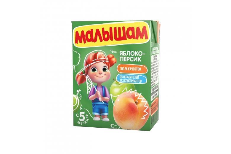 "Нектар ""Малышам"" 0.2л яблоко-персик"