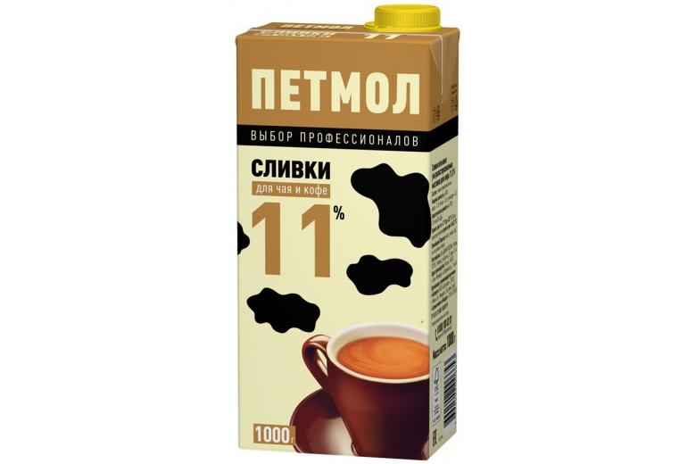 """Сливки """"Петмол"""" 11% 1000г"""
