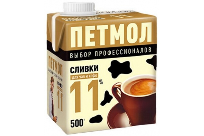 """Сливки """"Петмол"""" 11% 500г"""