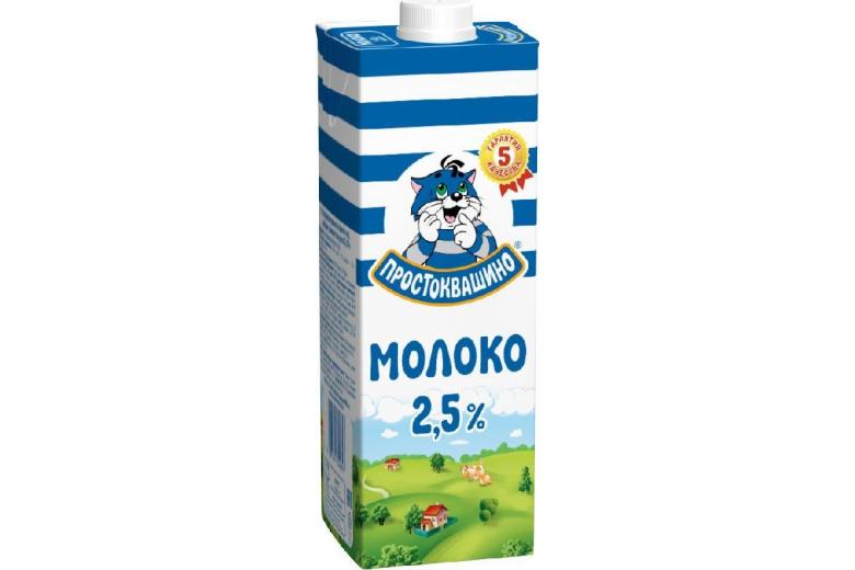 """Молоко """"Простоквашино"""" 2.5% 950г"""