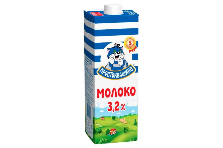 """Молоко """"Простоквашино"""" 3.2% 950г"""