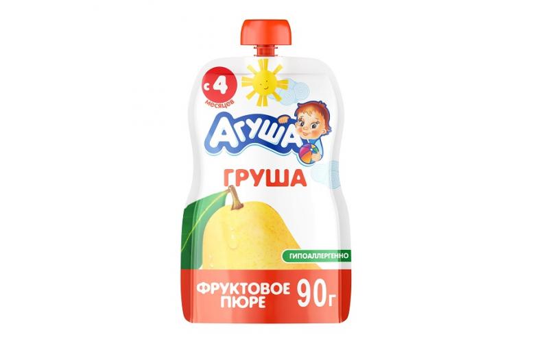 "Фруктовое пюре ""Агуша"" груша 90г"