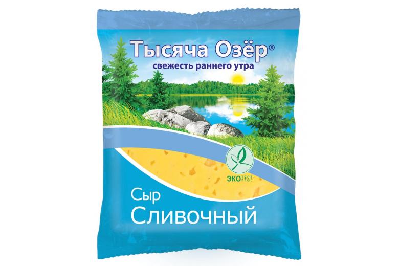 """Сыр """"Тысяча озер"""" сливочный 200г"""