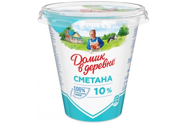 """СМЕТАНА """"ДОМИК В ДЕРЕВНЕ"""" 10% 300Г"""