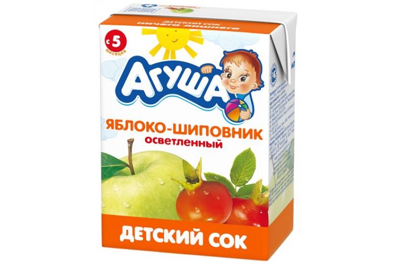 """Сок """"Агуша"""" яблоко-шиповник 200г"""