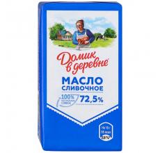"""СЛИВОЧНОЕ МАСЛО """"ДОМИК В ДЕРЕВНЕ"""" 72.5% 180Г"""