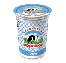 """Сметанный продукт """"Альпийская коровка"""" 20% 500г"""