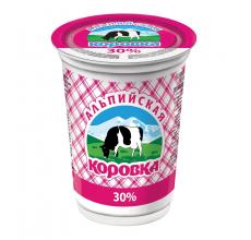 """Сметанный продукт """"Альпийская коровка"""" 30% 400г"""