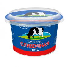 """Сметана """"Сливочная Экомилк"""" 30% 200г"""