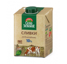 "Сливки ""Село зеленое"" 10% 500г"