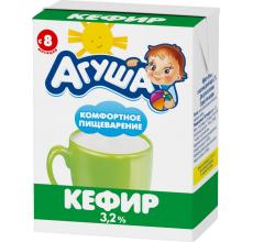 """Кефир """"Агуша"""" 3.2% 204 мл"""