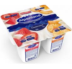 Йогурт Alpenland 7.5% 95 г клубника-ананас