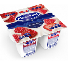 Йогурт Alpenland 7.5% 95 г малина-клубника