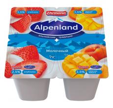 Йогурт Alpenland 2.5% 95 г клубника-персик-манго