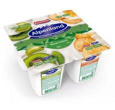 Йогурт Alpenland 0.3% 95 г киви-крыжовник-ананас
