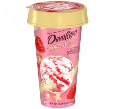 """Йогуртный коктейль """"Даниссимо"""" клубничное мороженое 190г"""