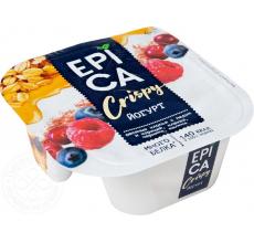Йогурт Epica Crispy мюсли-сушеные ягоды 138г