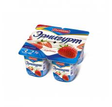 "Йогурт ""Эрмигурт"" сливочный 100г клубника"