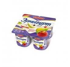 """Йогурт """"Эрмигурт"""" экстра сливочный 100г яблоко-груша"""