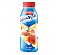 """Йогурт """"Эрмигурт"""" клубника-банан 420г"""