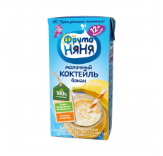 "Молочный коктейль ""Фрутоняня"" 0.2л банан"
