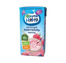 "Молочный коктейль ""Фрутоняня"" 0.2л малина"