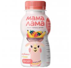 """Йогурт """"Мама лама"""" 2.5% 200г клубника-банан"""