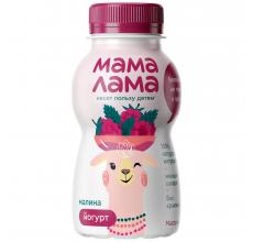 """Йогурт """"Мама лама"""" 2.5% 200г малина"""
